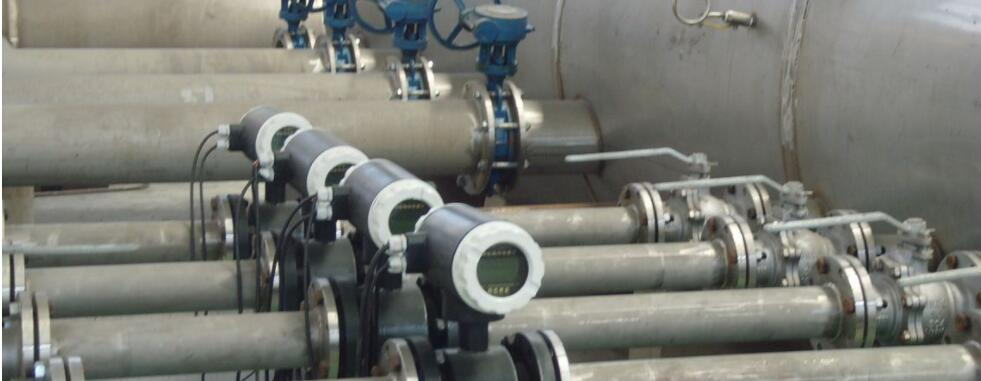Caustic soda flow meters